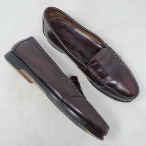 Johnston Murphy Burgundy Leather Penny Loafers 10